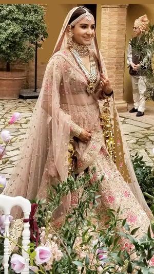 Floral Motifs On Sabysachi Brides' Lehengas