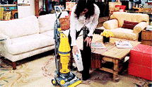 monica geller cleaning vacuum cleaner
