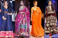 Image Courtesy: Indian Bridal Fashion Week (Huma Qureshi and Nargis Fakhri), Indian International Jewellery Week (Dia Mirza)