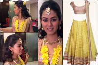 mira rajput sangeet dress details