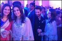 mira rajput wedding reception dress description