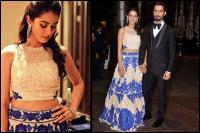 mira rajput mumbai reception dress details