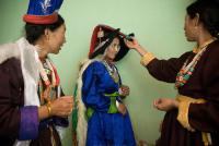 ethnic ladakhi buddhist bridal look details- BollwyoodShaadis
