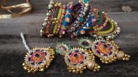 complete jewellery set made with gota
