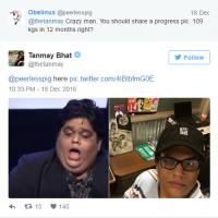 Tanmay Bhat Weight Loss