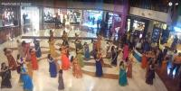 flash mob in sarees at select city walk in delhi international women's day