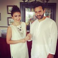 Soha and Saif