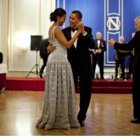 Barack Obama and Michelle dancing together