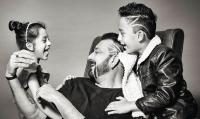 Sanjay Dutt With His Two Kids