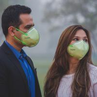 Delhi Pollution Pre-Wedding Photo Shoot