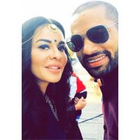 Shikhar Dhawan With Wife Aesha At Sister's Mehendi Ceremony