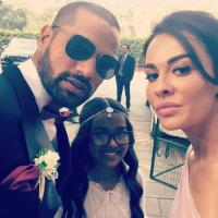 Shikhar Dhawan With Wife Aesha And Daughter At Sister's Wedding