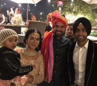 Shikhar Dhawan With Wife Aesha At Sister's Wedding