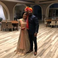 Shikhar Dhawan With Wife Aesha At Sister's Wedding Ceremony