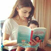 Soha Ali Khan with her daughter
