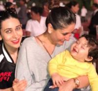 Taimur with Karisma and Kareena