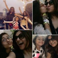 Sushmita sen with daughters