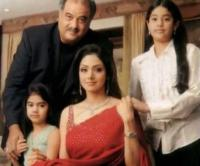 Sridevi and Boney Kapoor with kids