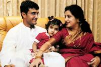 Sourav Ganguly with wife Dona and daughter