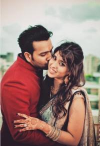 Rohit Sharma and Ritika Sajdeh