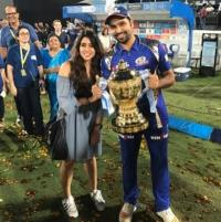 Rohit Sharma with wife Ritika Sajdeh