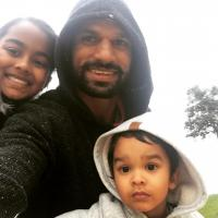 Shikhar Dhawan with his kids