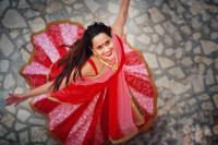 Indian brides twirling