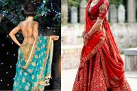 dupatta draping style for brides