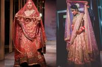 Double dupatta draping style