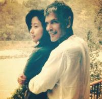 Milind Soman and His girlfriend