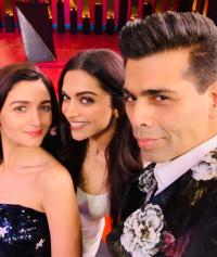 Karan Johar, Alia Bhatt and Deepika Padukone