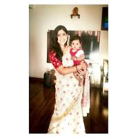 Sakshi Tanwar with her daughter Dityaa