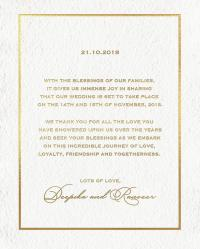Deepika and Ranveer's wedding invite