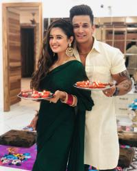 Prince Narula Yuvika Chaudhary First Diwali Together Post Marriage