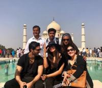 Sushmita Sen and Rohman Shawl at Taj Mahal