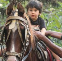 Taimur Ali Khan horse riding
