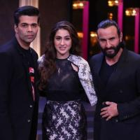 Karan Johar, Saif Ali Khan and Sara Ali Khan