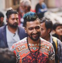Vicky Kaushal on the sets of Manmarziyaan