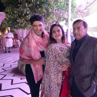 Nita Ambani, Mukesh Ambani and Manish Malhotra