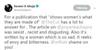 Sonam Kapoor Comments On The Cut Sexist Article