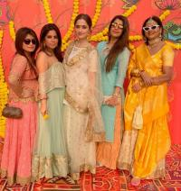 Ankita Bhargava and Sanjeeda Shaikh at Chloe wedding