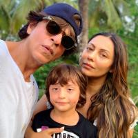 Gauri Khan, Shah Rukh Khan and AbRam Khan