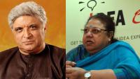 Javed Akhtar and Honey Irani