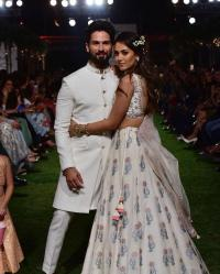Shahid Kapoor and Mira Kapoor At Lakme Fashion Week 2018 Day 1