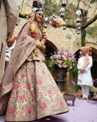 Anushka Sharma Pink Wedding Lehenga