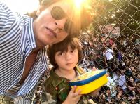 Shah Rukh Khan and AbRam Khan