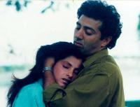 Sunny Deol with Dimple Kapadia