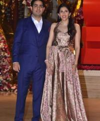 Shloka Mehta and Akash Ambani Post Engagement