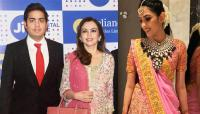 Nita Ambani, Akash Ambani and Shloka Mehta