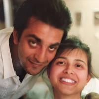 Sanjay Dutt with first wife, Richa